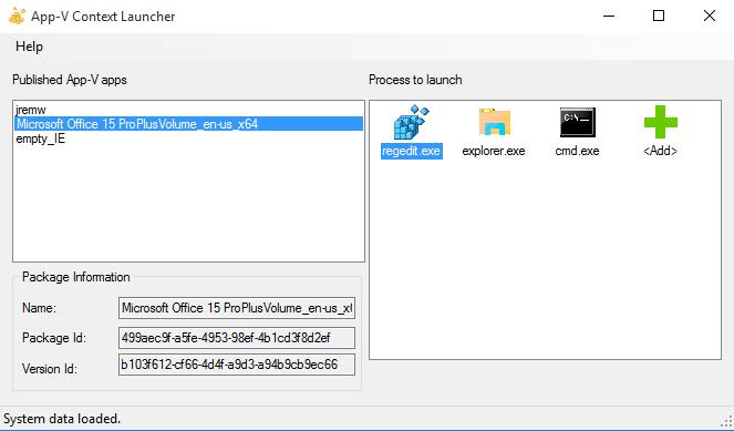 App-V Context Launcher by Caphyon.