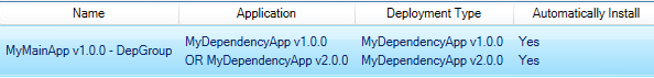 SCCM Dependency Group setting