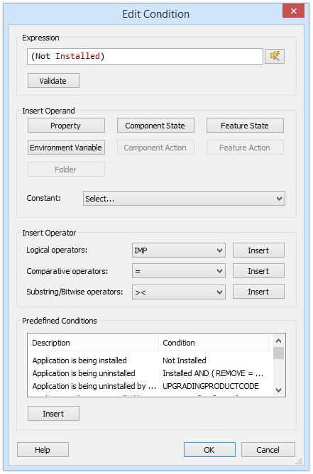 Edit Condition Dialog