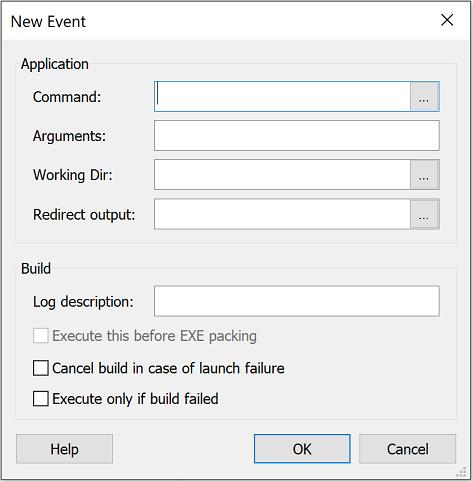 Edit Event Dialog