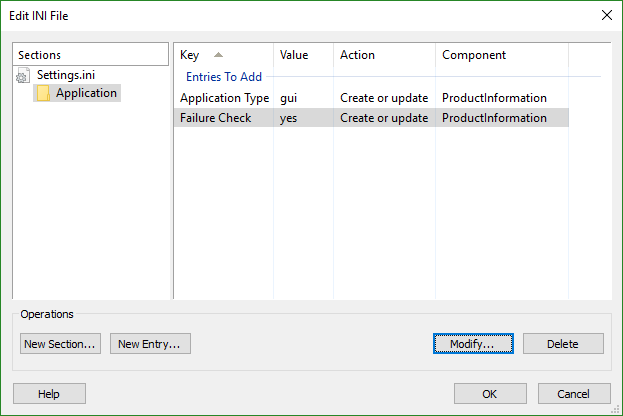 Edit INI File Dialog