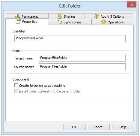 Folder Properties Dialog