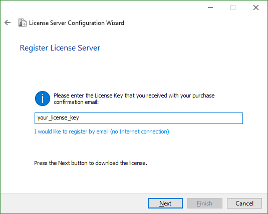 Configuring the License Server