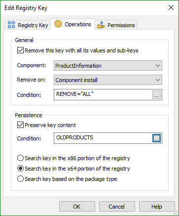 Registry Key Removal Dialog