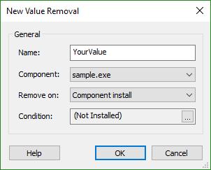 Registry Value Removal Dialog