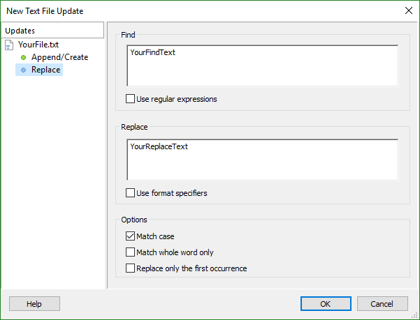 Text File Updates