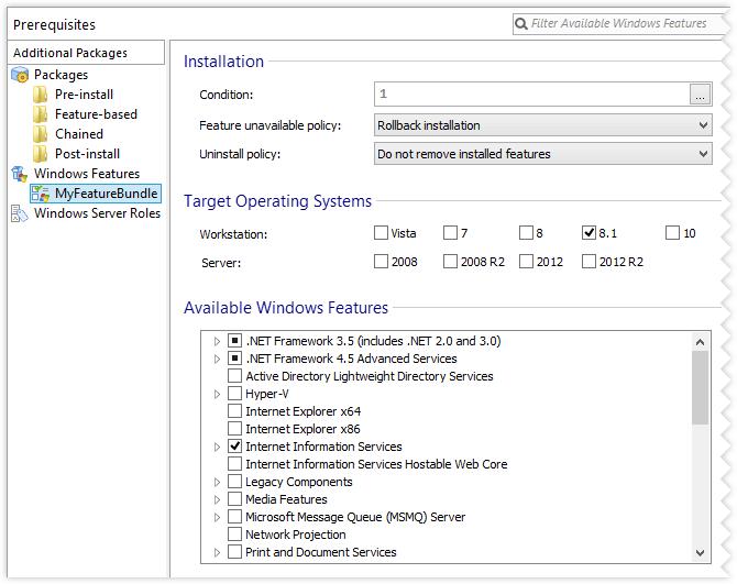 Windows Features bundle