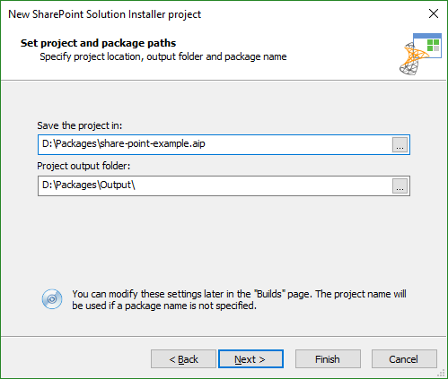 Dialog as it appears in a SharePoint Solution wizard