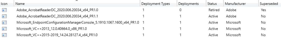 Configuration manager environment