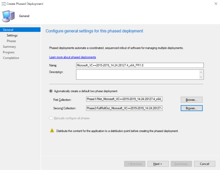 Phased Deployment in Configuration Manager Console