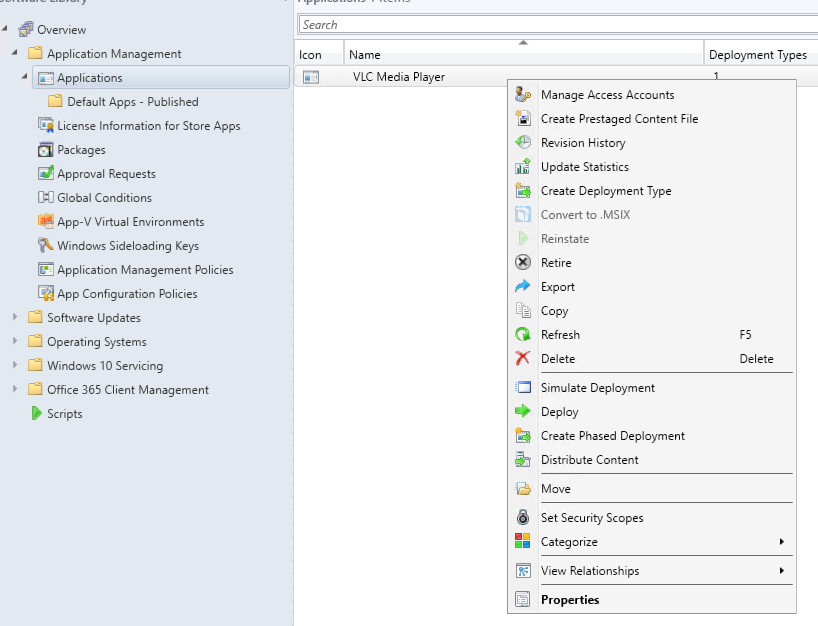MSIX Deployment via SCCM