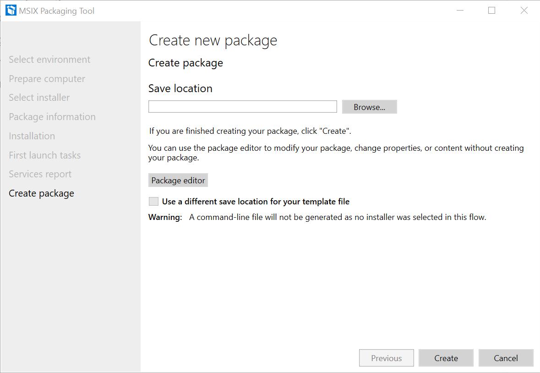 Application Package Create Package