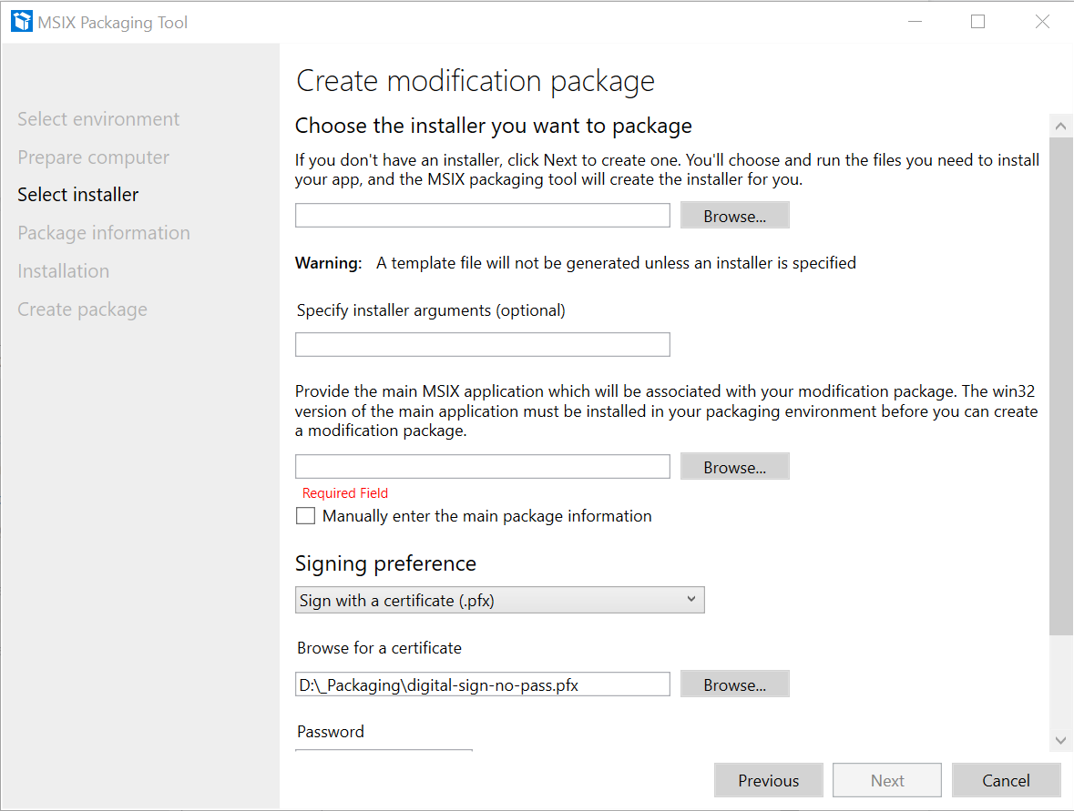 Modification Package Select Installer