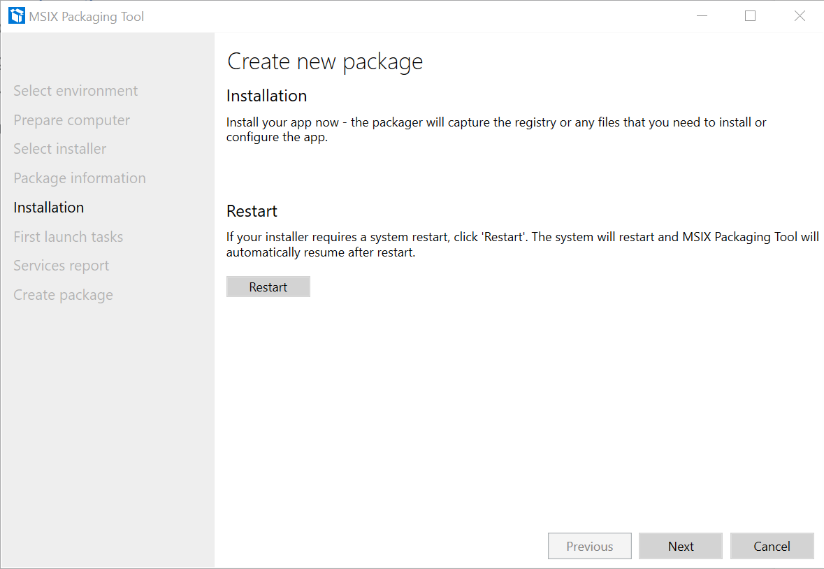 Application Package Installation
