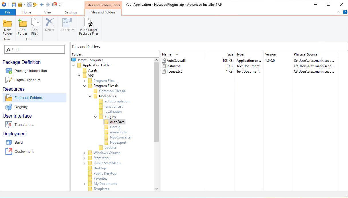 Add AutoSave folder