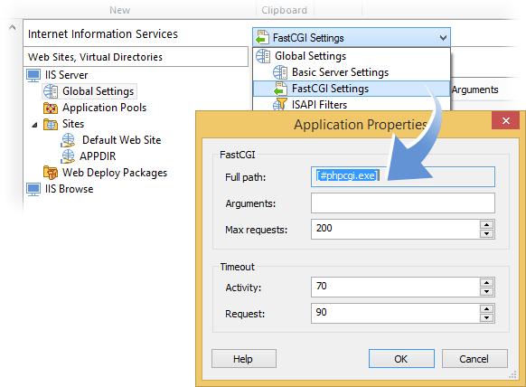 IIS FastCgi Applications