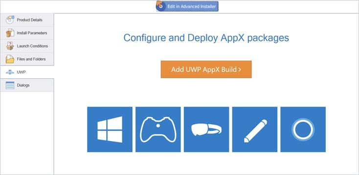 Desktop Bridge - VS extension for Advanced Installer