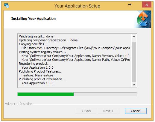 Install-time Details Log