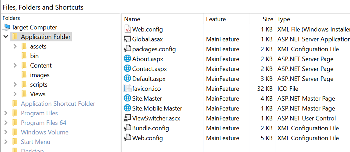 Files And Folders page