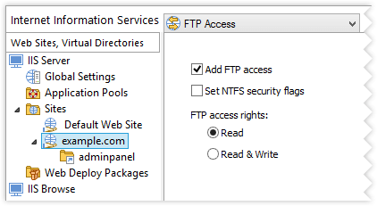 Web Site FTP