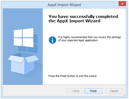 Importing/Creating an AppX Package