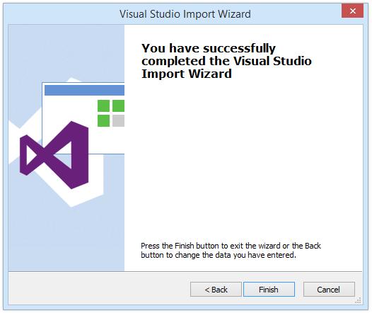 Import Visual Studio project