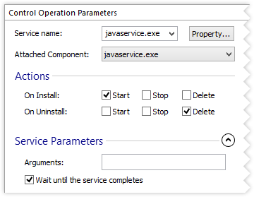 Service Control Parameters