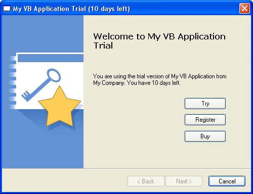 Trial messages on pre-Vista operating systems