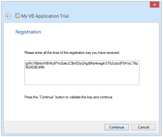 Integrate licensing feature in VB projects