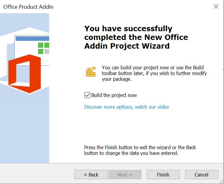 Office Add-In Finish