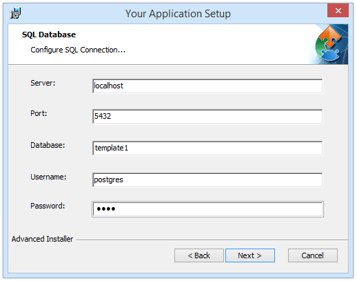 Configure PostgreSQL Server Connection