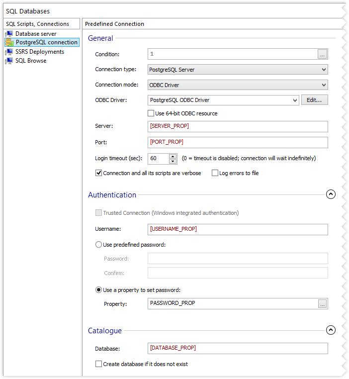 Configure PostgreSQL Server Connection