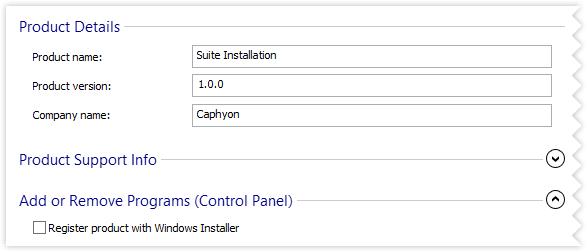 Do not reigster with Windows Installer.
