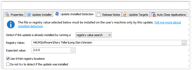 Update Installed Detection