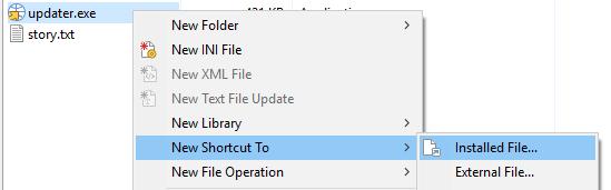 Updater Shortcut