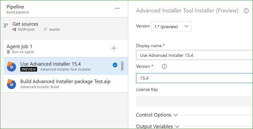 Advanced Installer for Azure DevOps (VSTS)