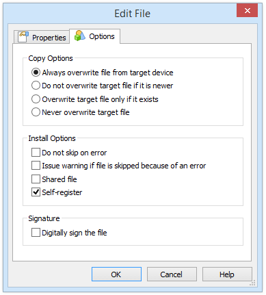 Edit File Options