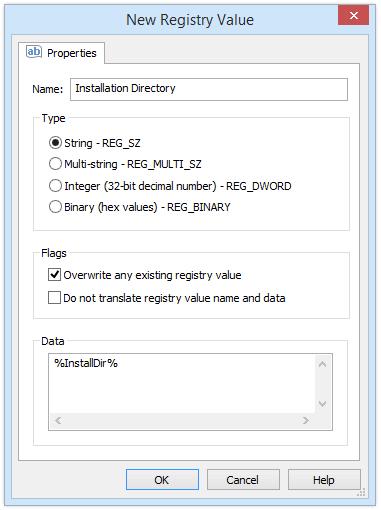 New Registry Value