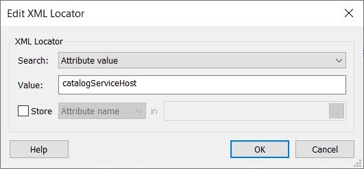 Edit XML Locator settings