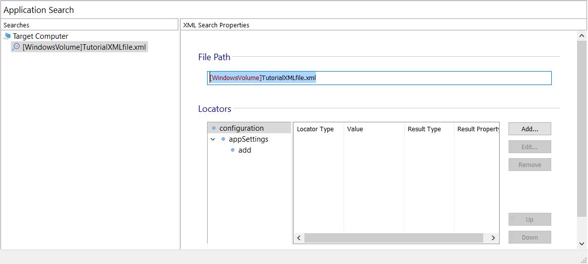 XML Search Properties
