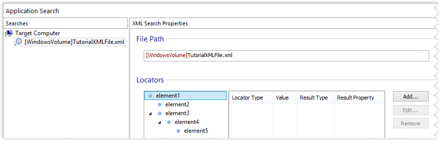 XML Search Properties