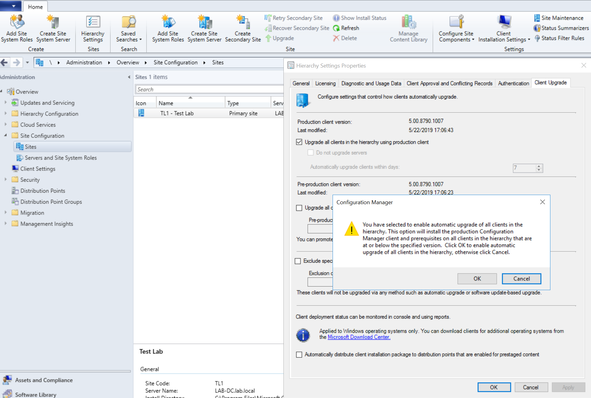 Migration Upgrade from SCCM 2012 to Current Branch (1902)